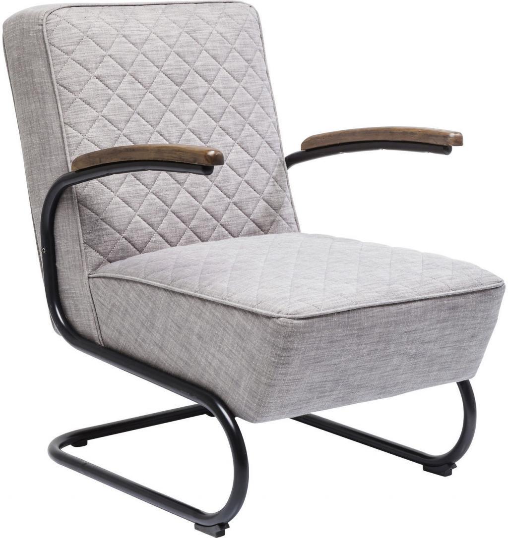 Kare Design Sessel Retro Hellgrau Polyester   Designwohnen.de